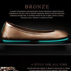 Tieks Metallic Bronze Flats